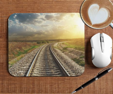 Train Tracks Mouse Mat PC Computer Pad N6